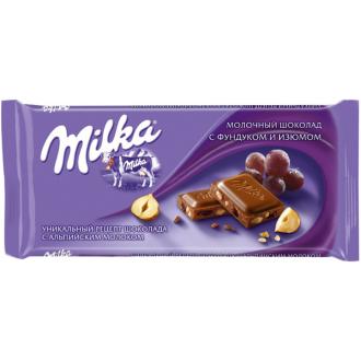 Милка шоколад 90гх20шт*(5бл) Фундук/Изюм/