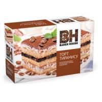 Торт бисквитный Baker House 350г*8 Тирамису