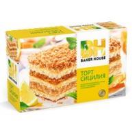 Торт бисквитный Baker House 350г*8 Апельсин (Сицилия)