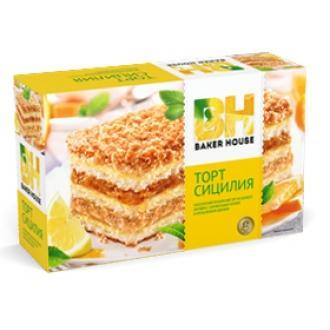 Торт бисквитный Baker House 350г*8 Апель...