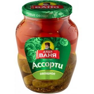 Ассорти Дядя Ваня 680 гр*8 Огурцы+томаты