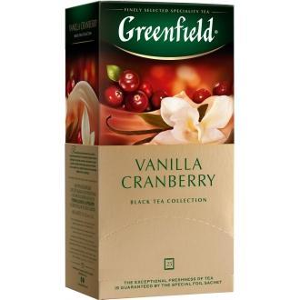 Гринфилд чай 25пак*1,5г*(10) Ванилла Крэнберри /ваниль/клюква