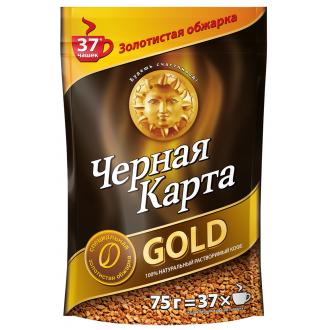 Черная карта Gold м/у  кофе 75г*12 ПАКЕТ