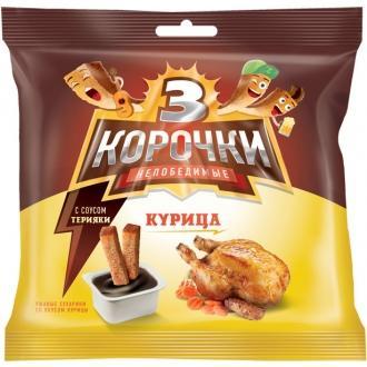 """Три Корочки Ржаные+ СОУС 60г+20г*30 """"Курица /соус Терияки"""""""