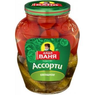 Ассорти Дядя Ваня 1800гр*6 Огурцы+томаты