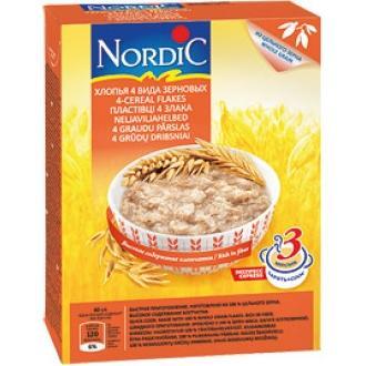 Хлопья 4-х видов зерновых  Нордик 600гр10
