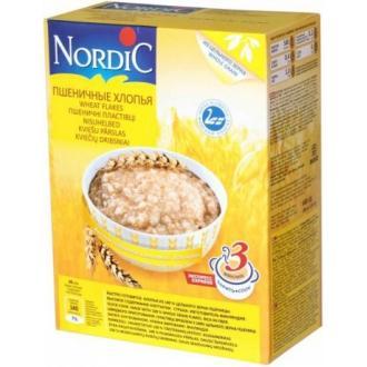 Хлопья  пшеничные  Нордик 600гр10