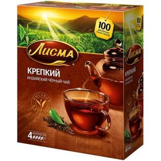 Лисма чай Крепкий 100 пак*2г*(6) Индия