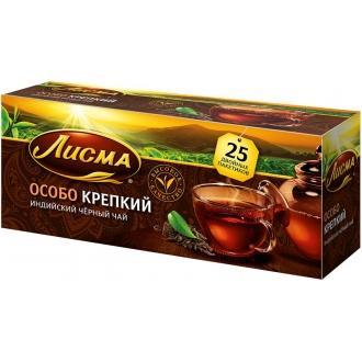 Лисма чай Особо Крепкий  25 пак*2,3 г*(2...