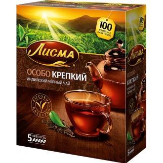 Лисма чай Особо Крепкий 100 пак*2,3г*(6)