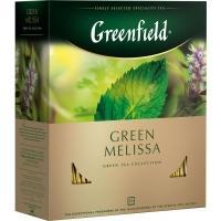 Гринфилд чай 100пак*2г*(9) Грин Мелисса зеленый/мелисса