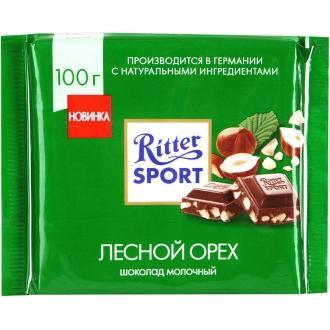 Риттер спорт 100г*12 Дробленный орех/молочный шоколад